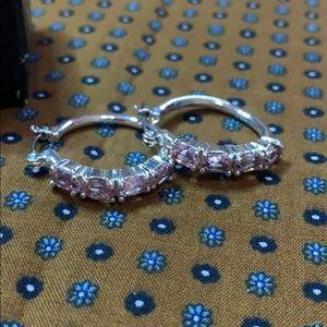 👑 Avon Birthstone Colored Hoop Earrings New